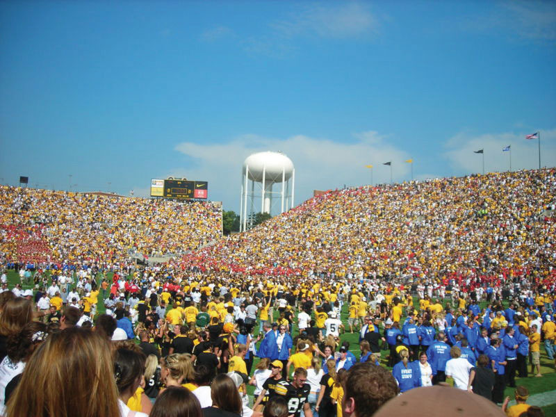 Crowds at a soccer game