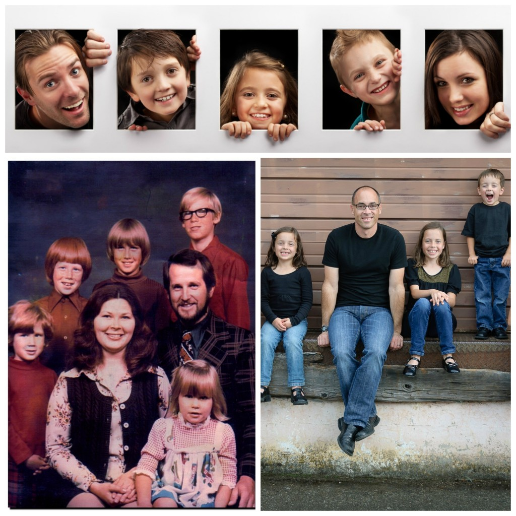 A collage of family pictures