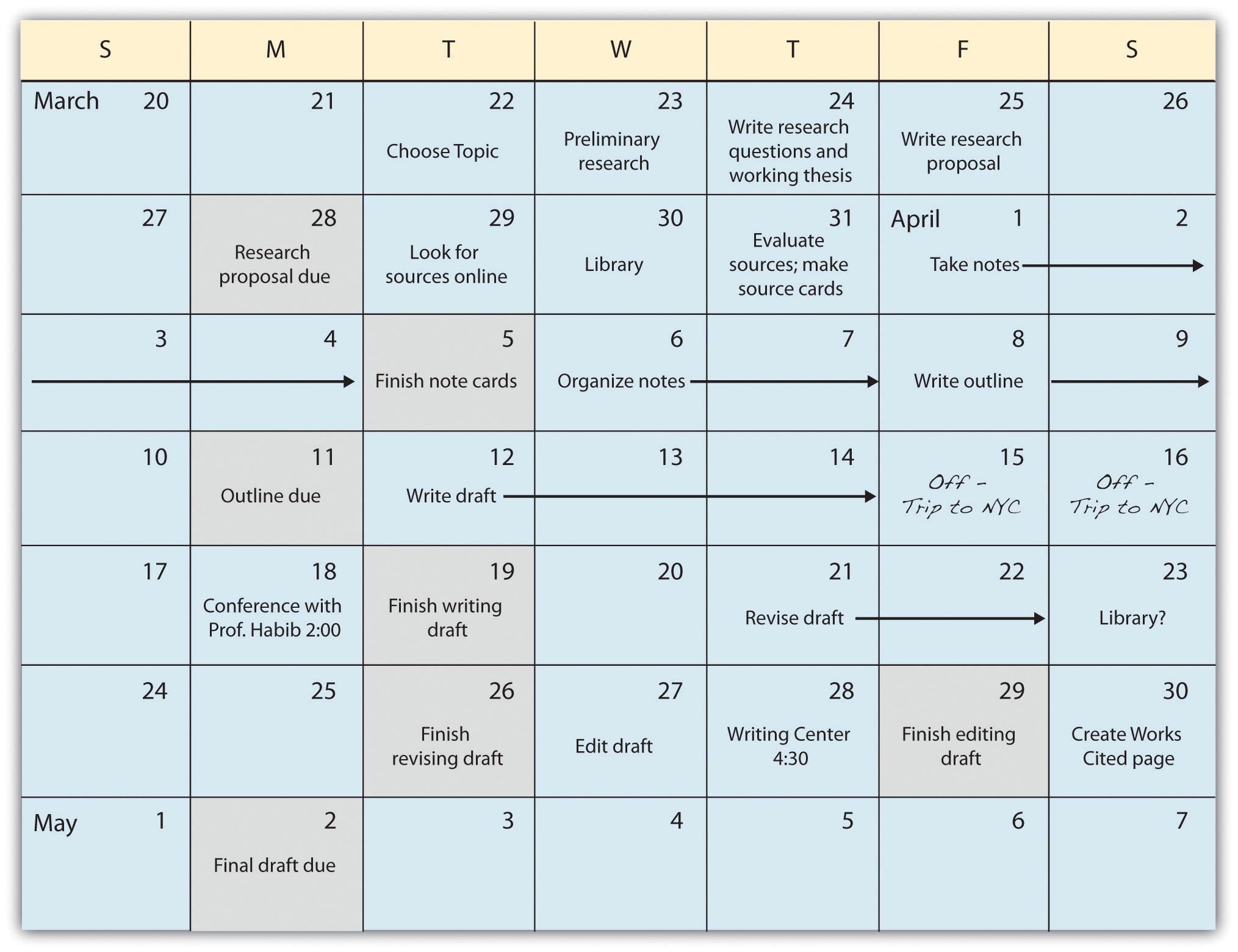 Jorge's schedule