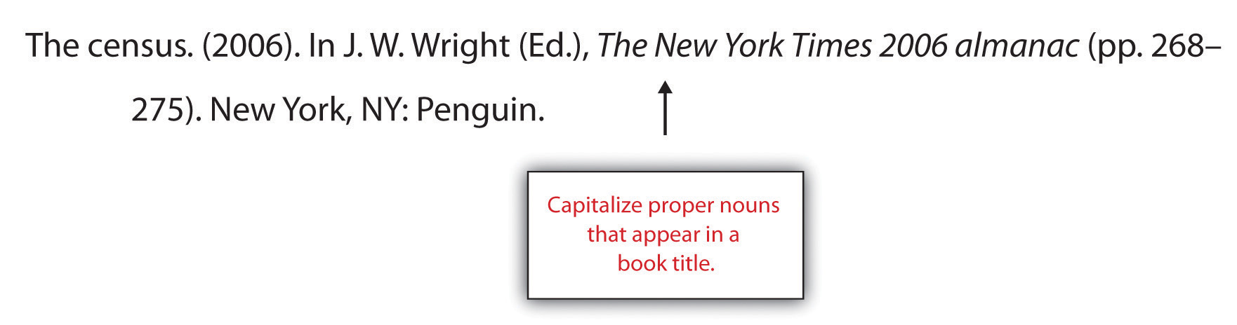 Capitalize proper nouns that appear in a book title while creating a references section