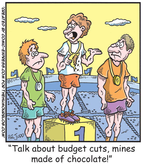 A Political Cartoon about Budget Cuts