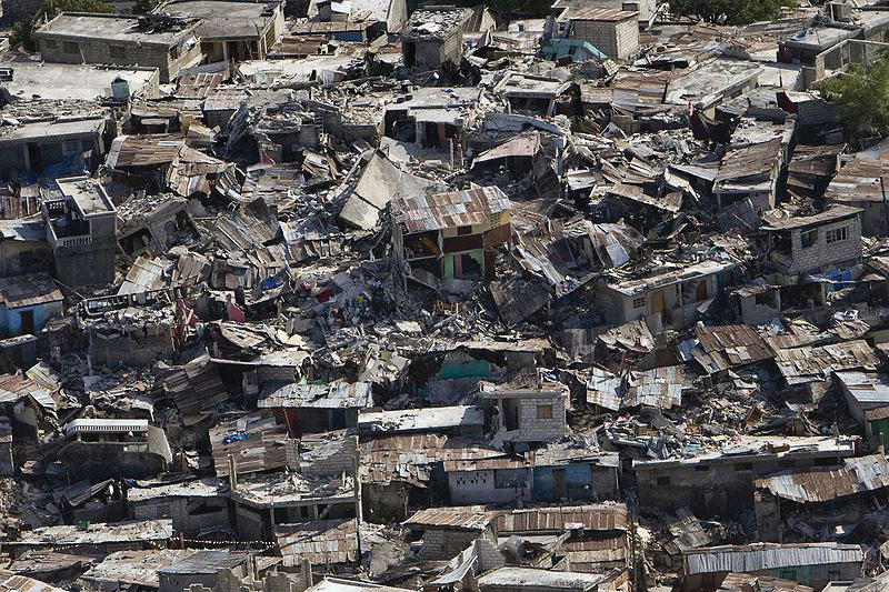 This photo illustrates the devastation of the Haiti earthquake