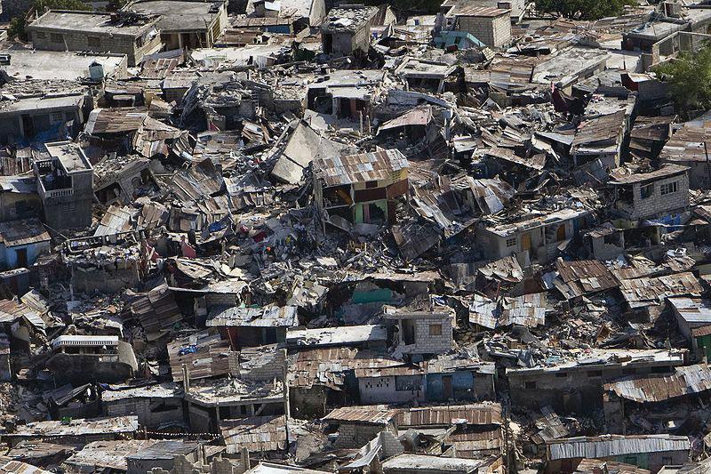 This photo illustrates the devastation of the Haiti earthquake
