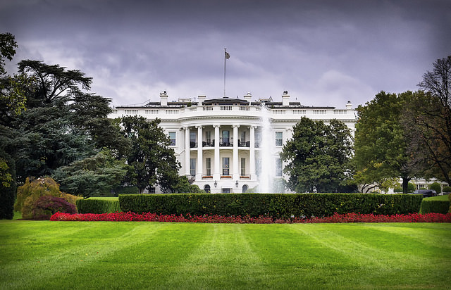 The White House from the front lawn