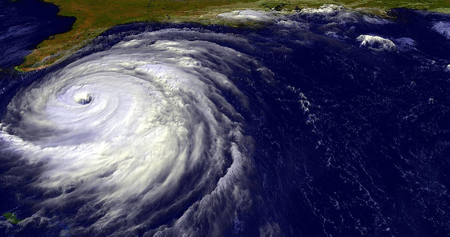 Hurricane Jeanne pictured from a satellite