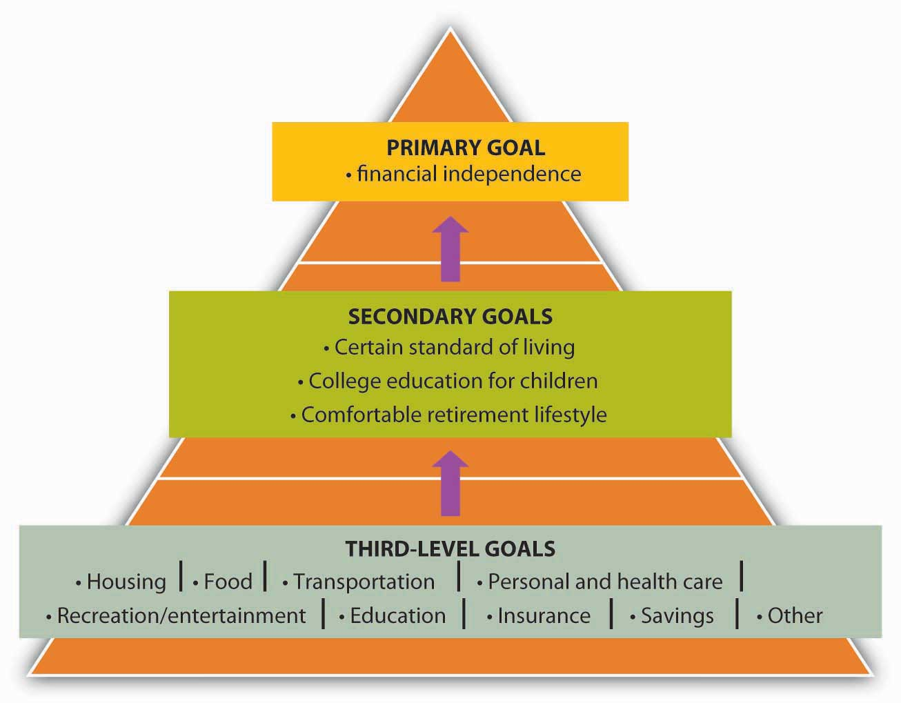 Three-Level Goals/Plans (Primary Goals, Secondary Goals, Third-Level Goals)