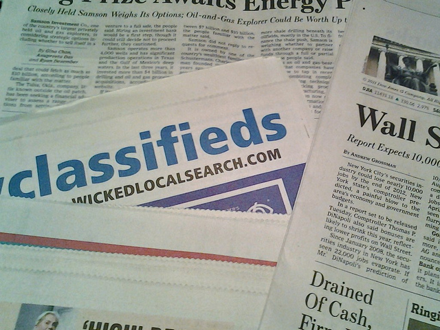 Local Newspapers on the table