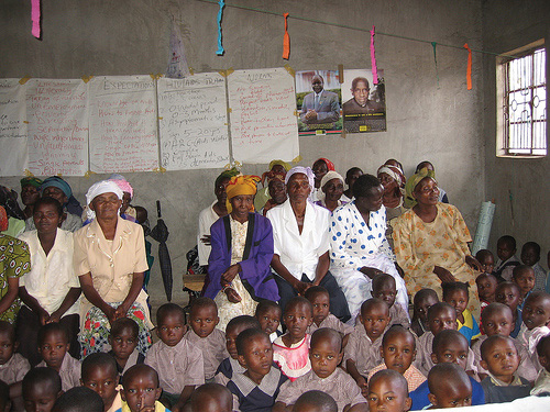 A room full of AIDS Orphans and their Guardians in Sophia Village