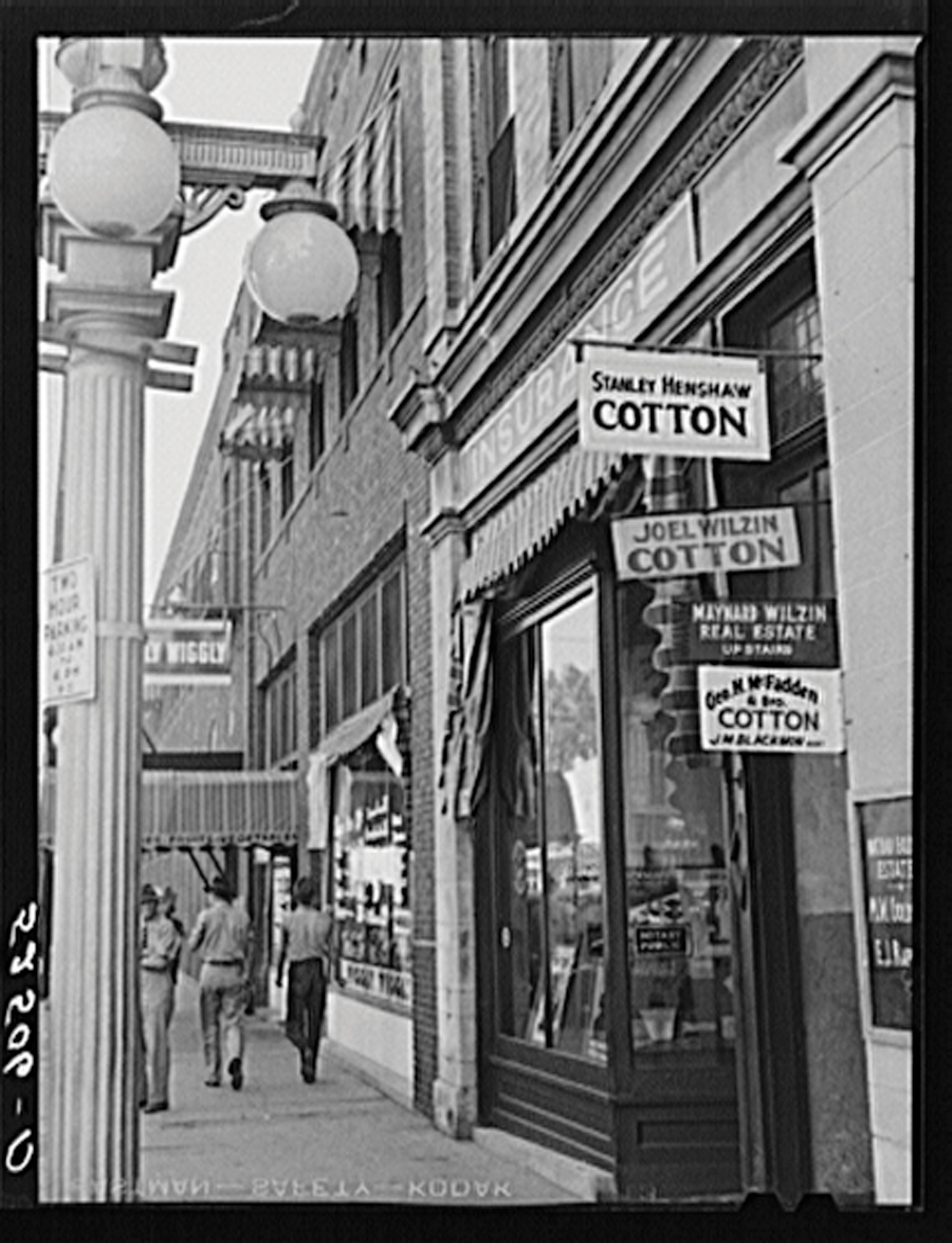 The outside of a 1960s Cotton shop