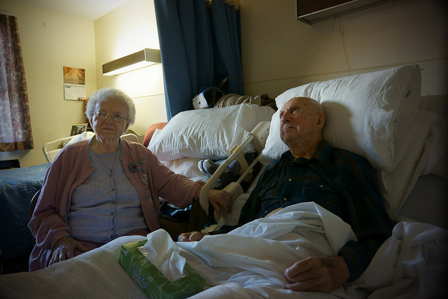The Coopers, an elderly couple in a nursing home