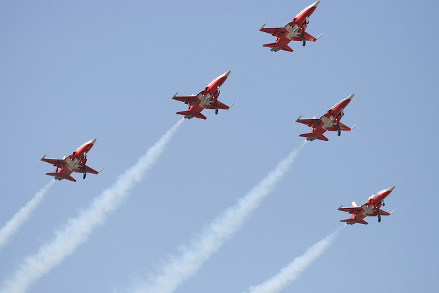 Swiss Jets flying in formation
