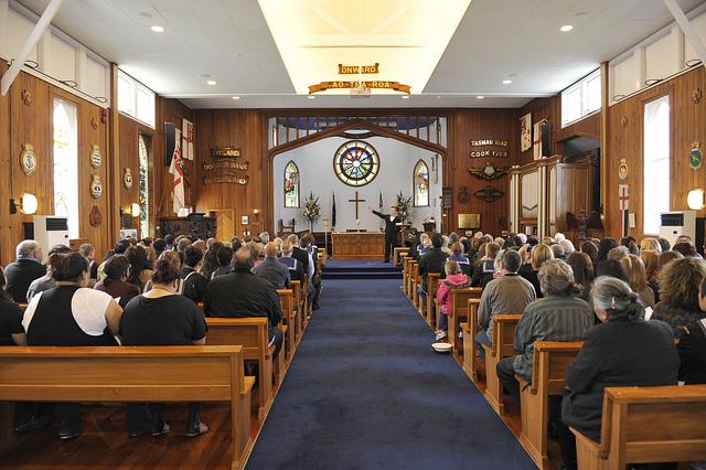 A church service at the Royal New Zealand Navy