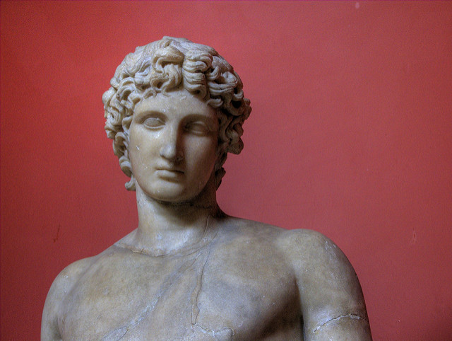 A marble bust of Apollo of Centocelle