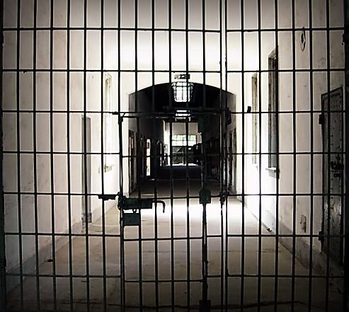 A gate at a prison
