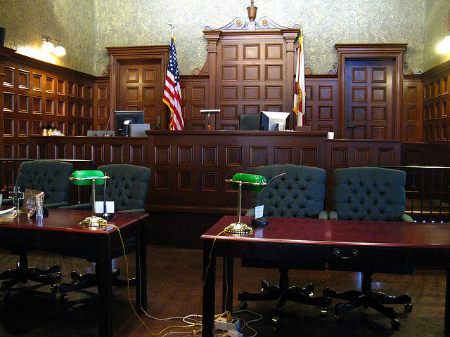 An empty courtroom