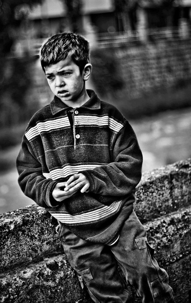 A child in poverty