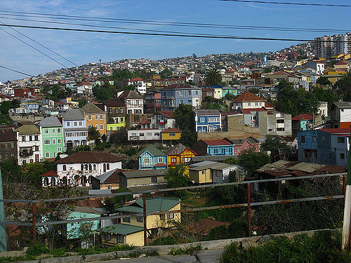 Colored house in Valparaiso