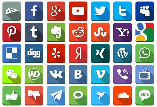 Social Networking app logos