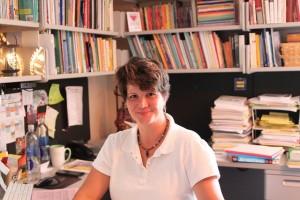 Professor Gray in her office
