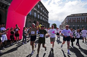 People participating in a marathon
