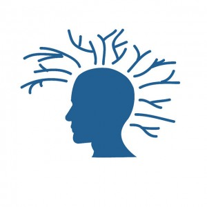 A head with ideas branching from it