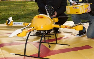 DHL package copter microdrones