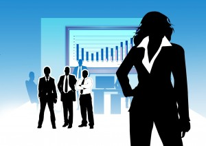 An executive businesswoman