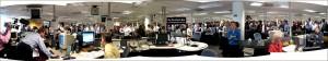 A panorama of the Washington Post Newsroom