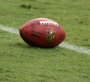 NFL football on the field