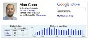 Alan Cann's profile on Google scholar