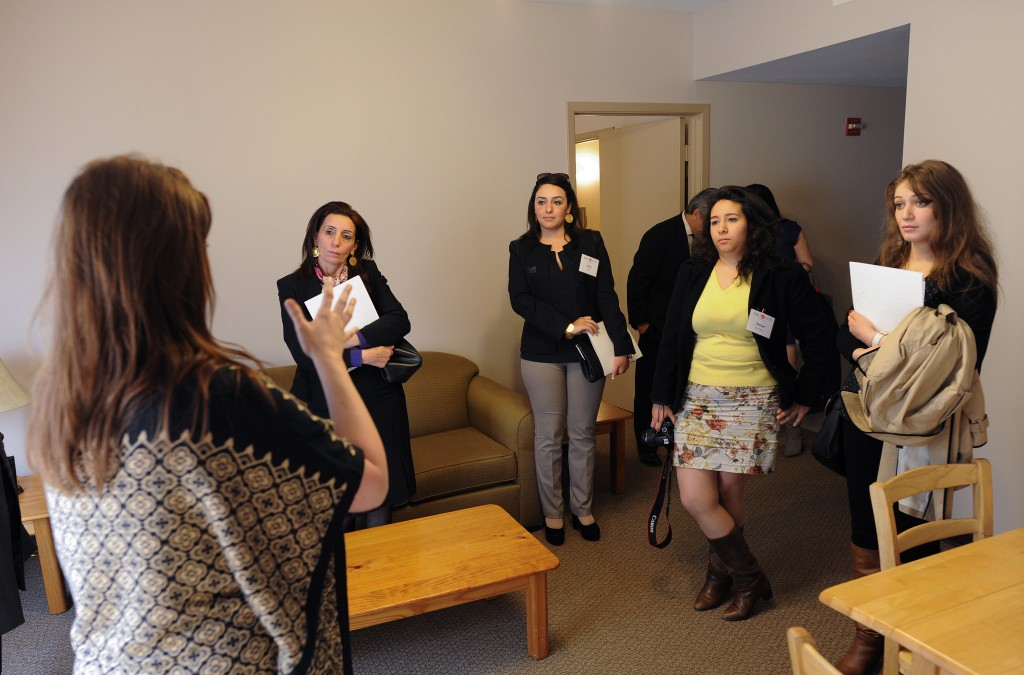 Fellows tour the Genesis Women's Shelter in Dallas, TX before meeting with a panel of local stakeholders