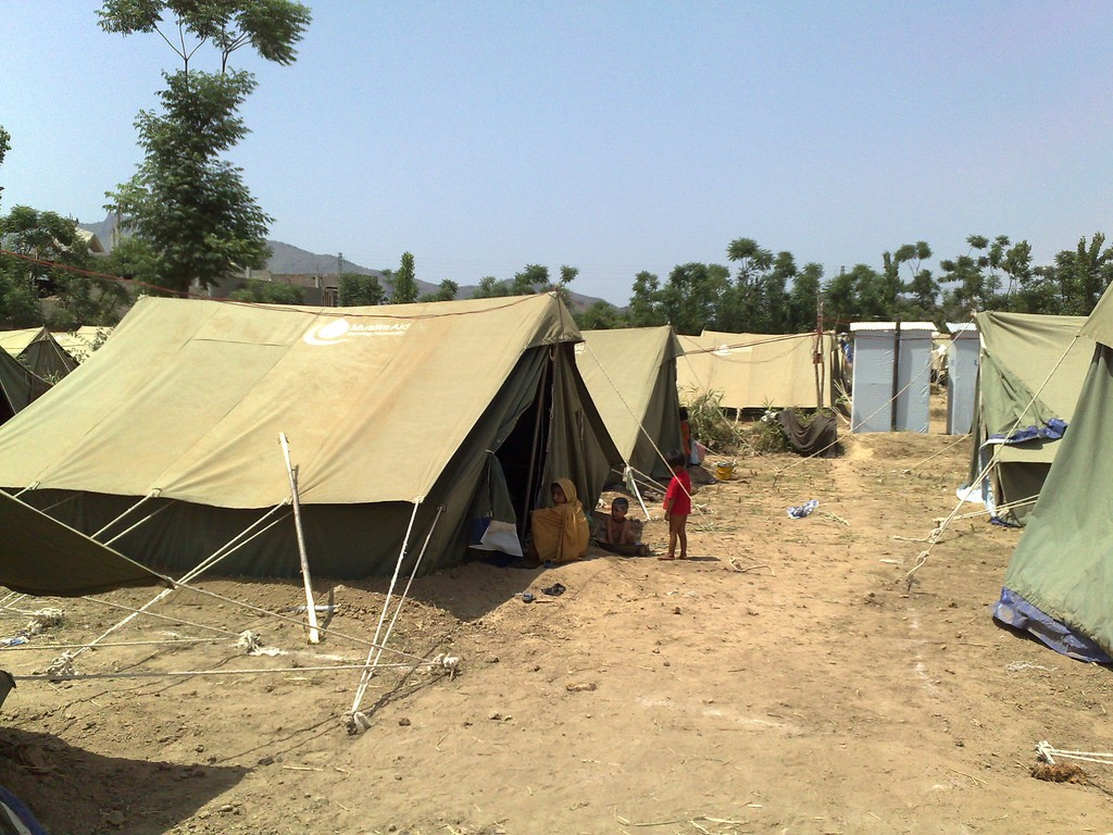 A camp for Pakistani Refugees
