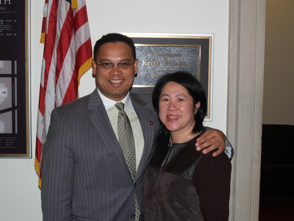 Congressman Ellison with Minnesota State Senator Mee Moua