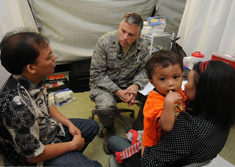Air Force doctor provides services through an interpreter