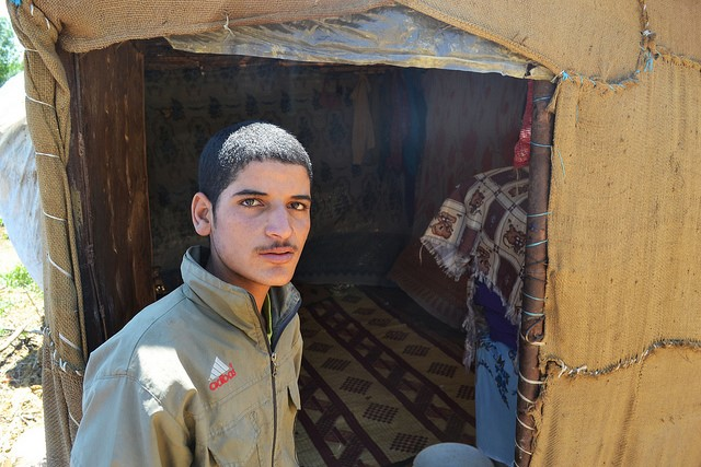 Abed (15) fled Syria to escape the war and was separated from his parents along the way