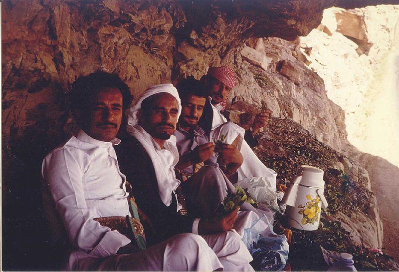 Khat picnic in Yemen