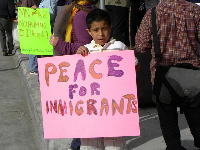 Minneapolis protest against Arizona immigrant law SB 1070