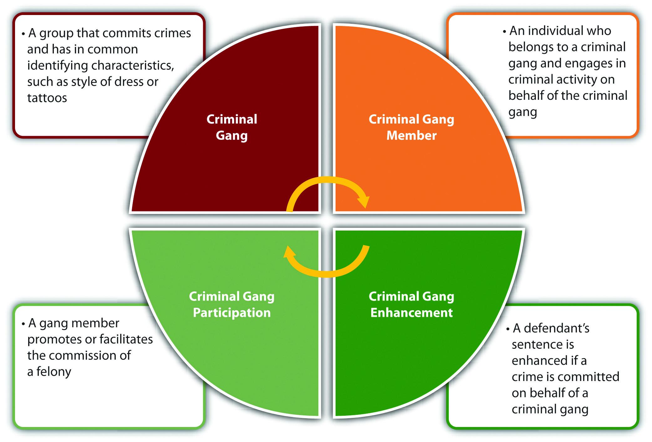 Diagram of Typical Modern Gang Statutes