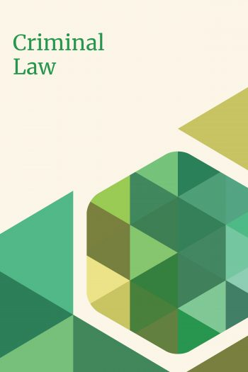 Cover image for Criminal Law