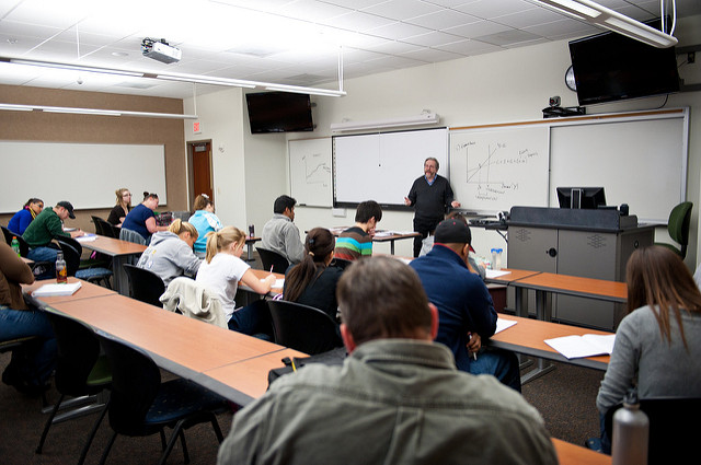 Students in Classrooms at UIS