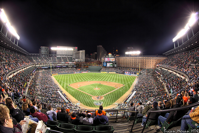 A packed stadium: Opening Weekend at Oriole Park