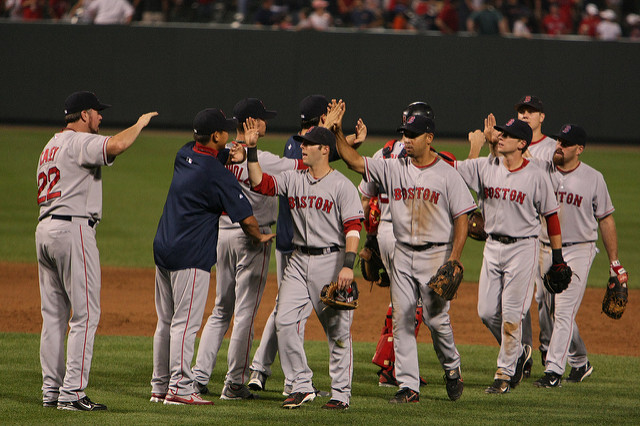 Boston Red Sox Celebrating a Win