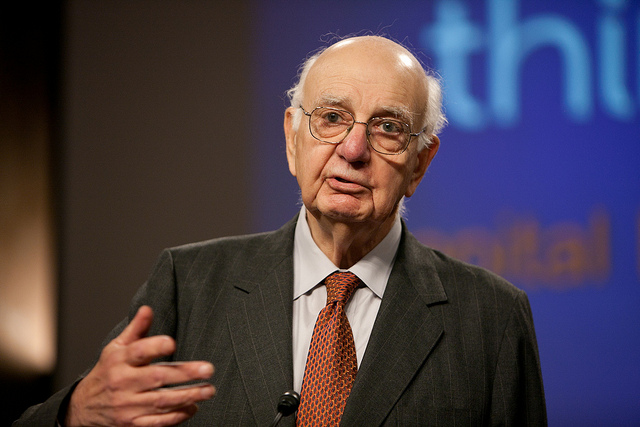 Paul Volcker, former Federal Reserve Chairman