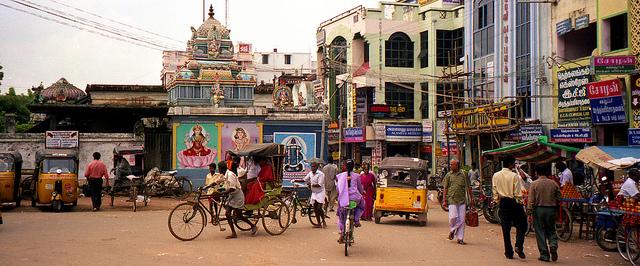 South India street scene