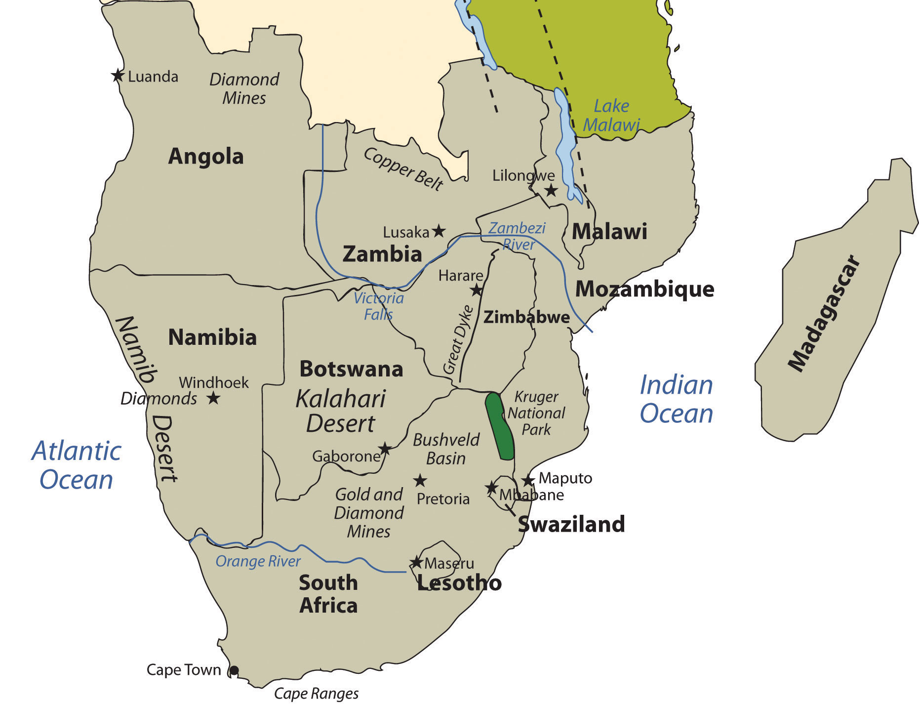 Picture of: 7 6 Southern Africa World Regional Geography