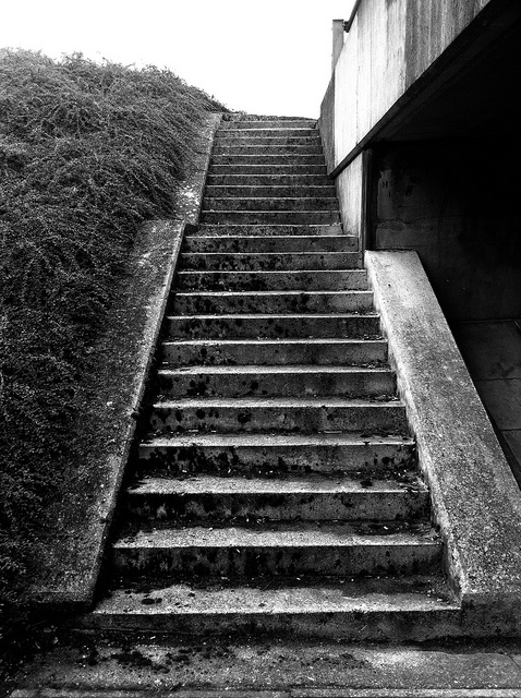 Old concrete steps