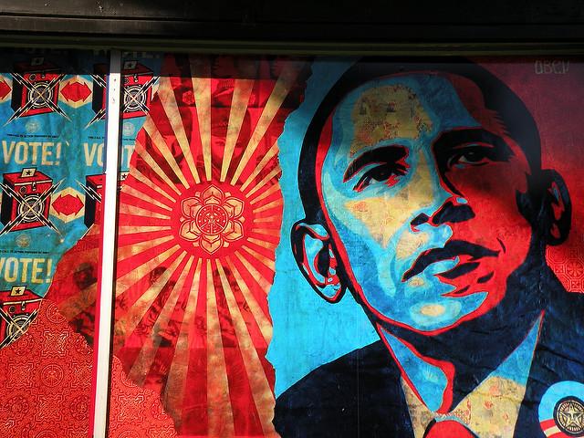 President Obama campaign mural