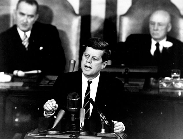 President John. F. Kennedy invited television cameras to broadcast the conference live