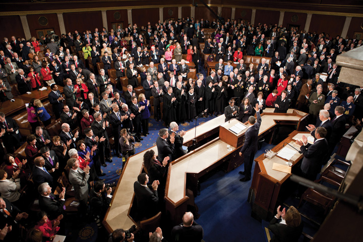 A standing ovation after Obama's state of the union