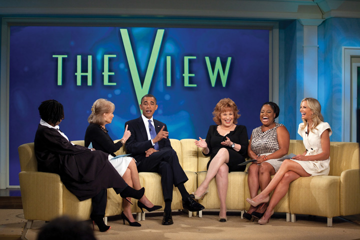 President Obama being interviewed on The View